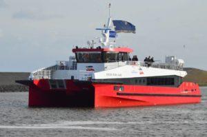 Schroefas systeem en Scheepsschroef voor Rüm Hart aluminium catamaran